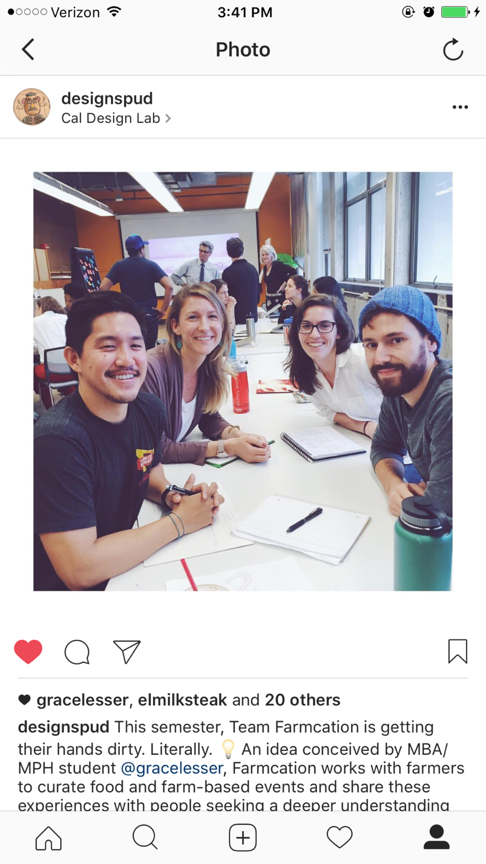 The Team! Photo from Eat.Think.Design Class Instagram Account.