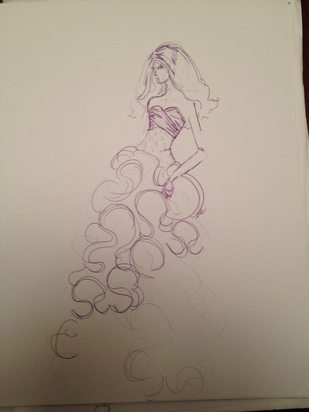 Sketch of the final design.