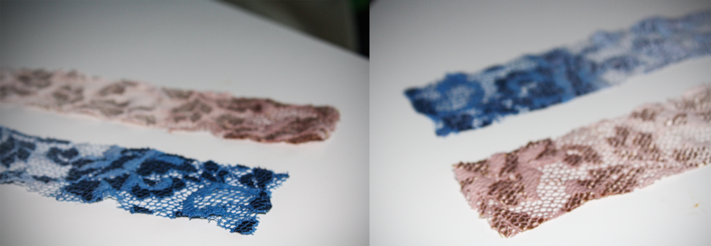 The dyed samples.