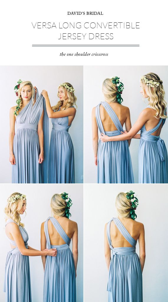 The beautiful and versatile David's Bridal bridesmaid dress.