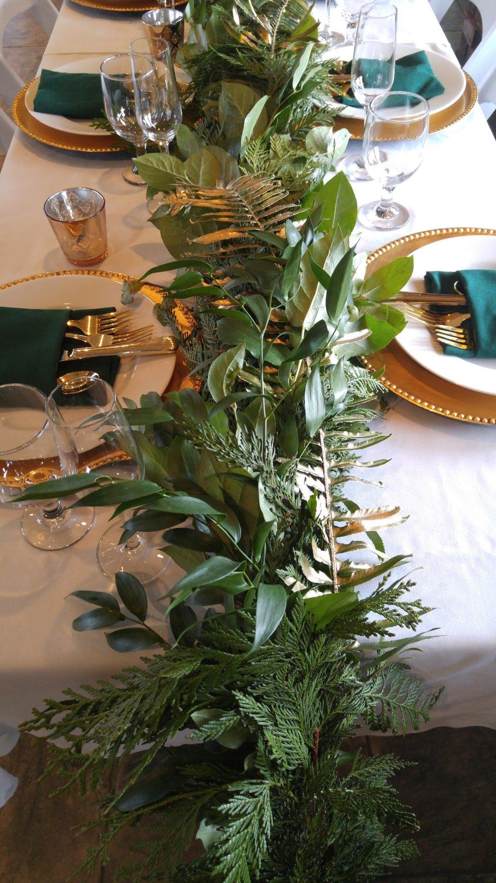 Wedding Wise, Seattle Wedding Planner | 2017 Pantone Greenery Wedding Ideas | Greenery Garland with Gilded Ferns