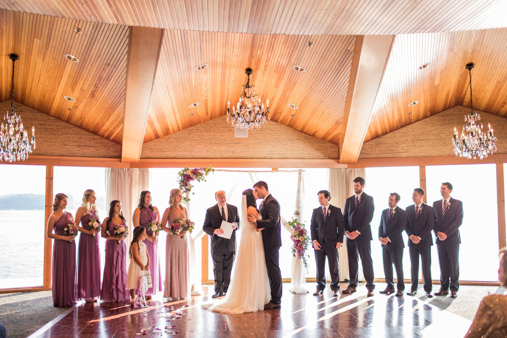 Seattle Wedding Planner, Wedding Wise | Ciccarelli Photography | Edgewater Hotel Wedding | Purple and navy blue wedding