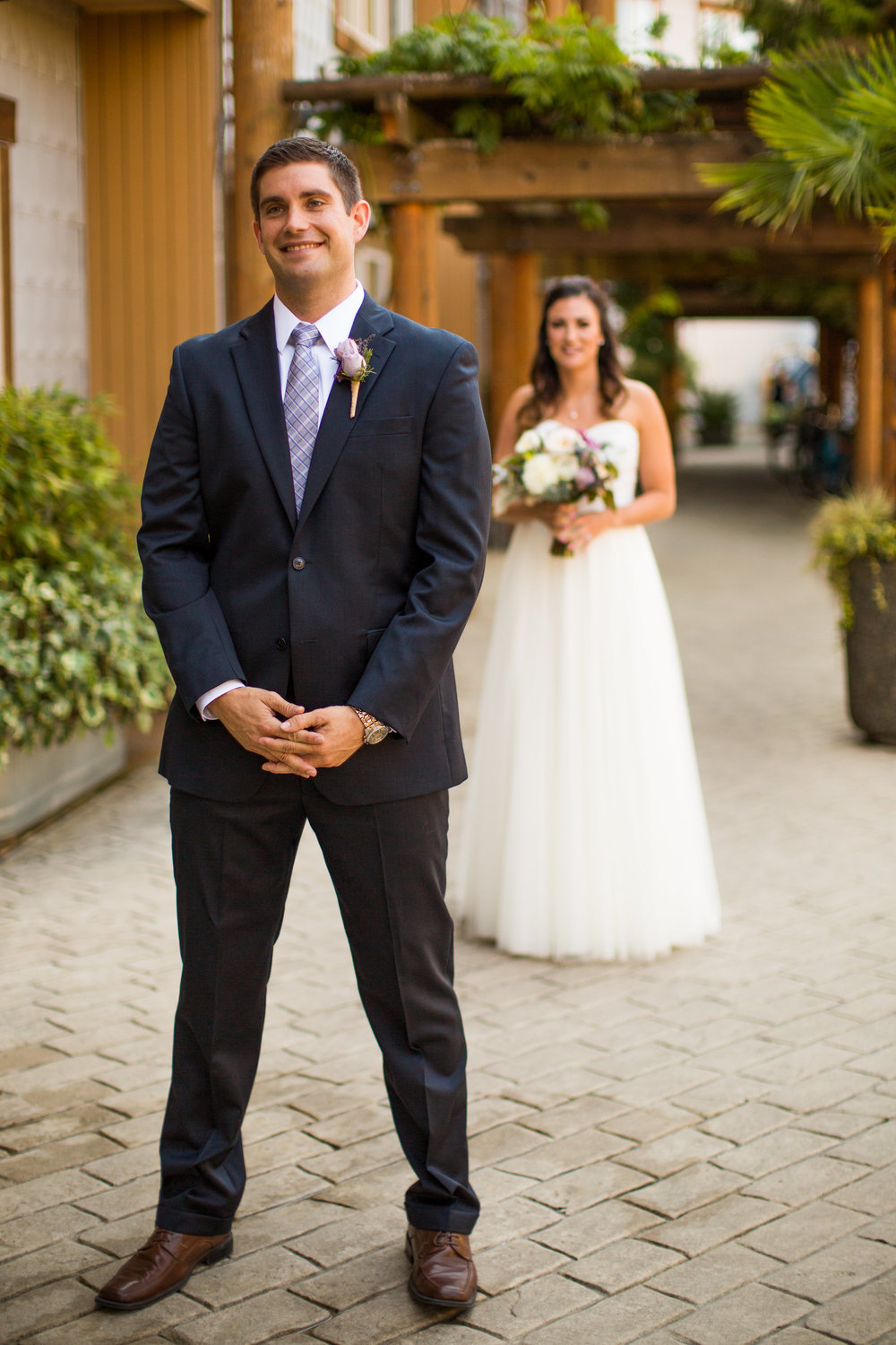 Seattle Wedding Planner, Wedding Wise | Ciccarelli Photography | Edgewater Hotel Wedding | Bride and groom first look