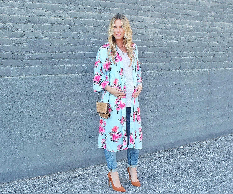 e8c311f75a7 Longline Rose Print Kimono Only  23 — Her Morning Coffee
