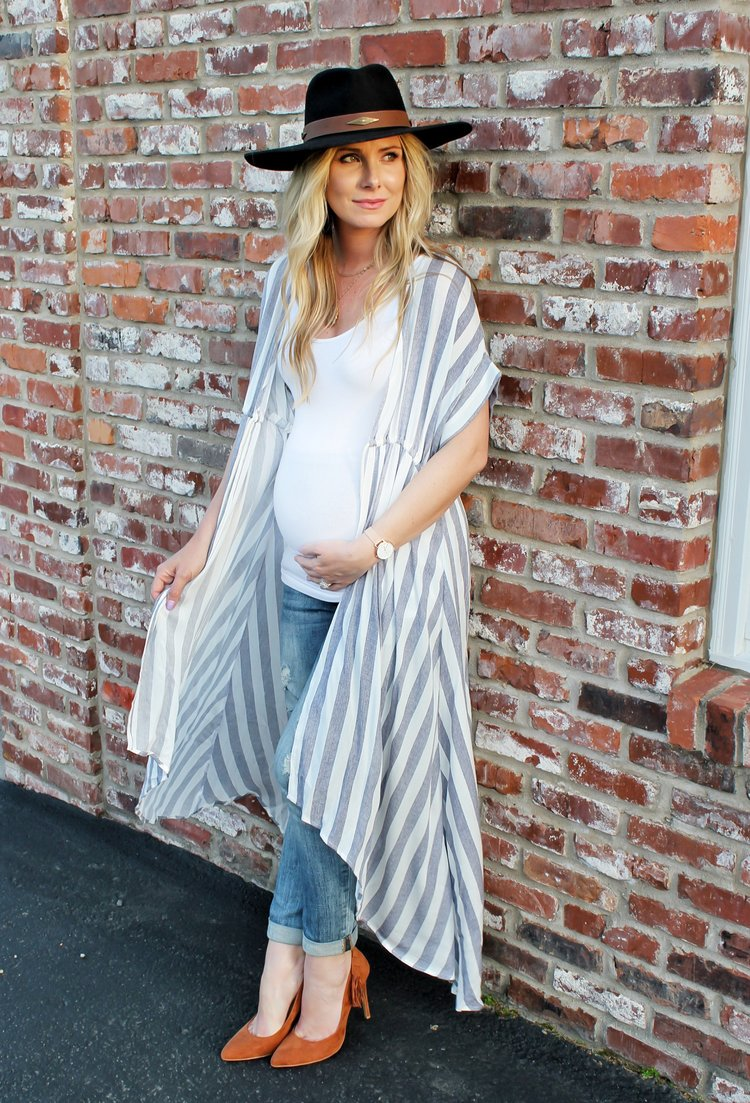 Striped Longline Cardigan — Her Morning Coffee