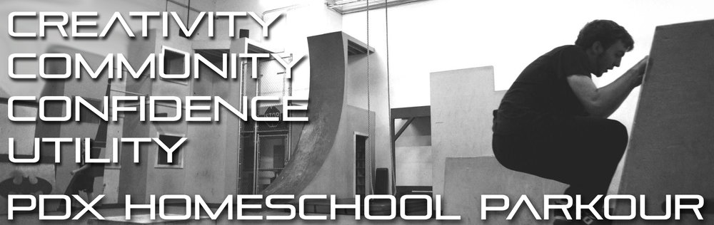Click the banner to visit a facebook group in order to get updates through a local portland parkour homeschool page. Don't forget to join the group!