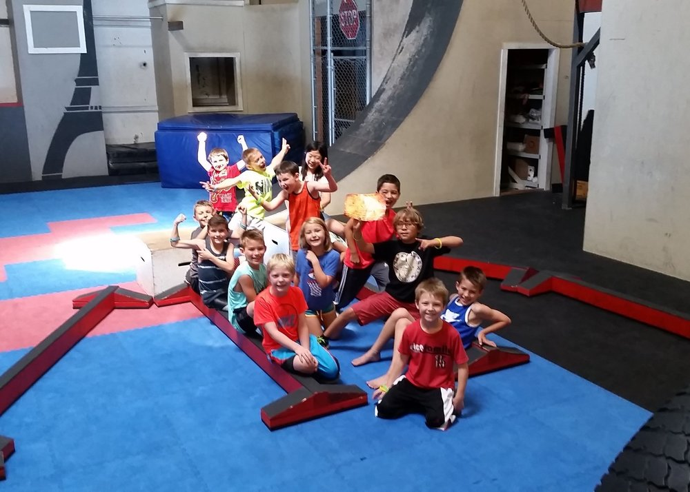 Safe Camps - Our number one priority is safety of our students. Revolution Parkour sets the standard for indoor camps in Oregon. Many parkour gyms across the US look to us for best camp practices. All staff are First Aid, CPR and Basic First Aid certified and we have an AED on site.