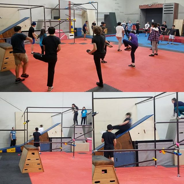 Parkour class tonight at #revolutionparkour #parkour4life