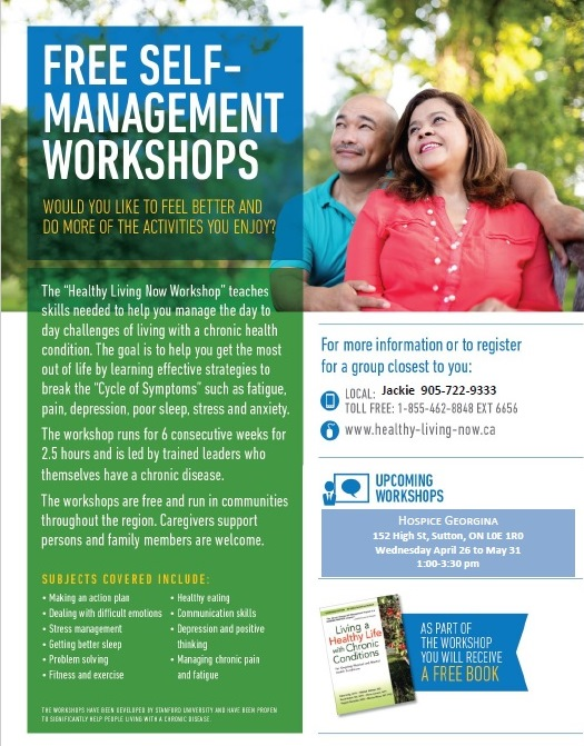 Free Self Management Workshops — Hospice Georgina