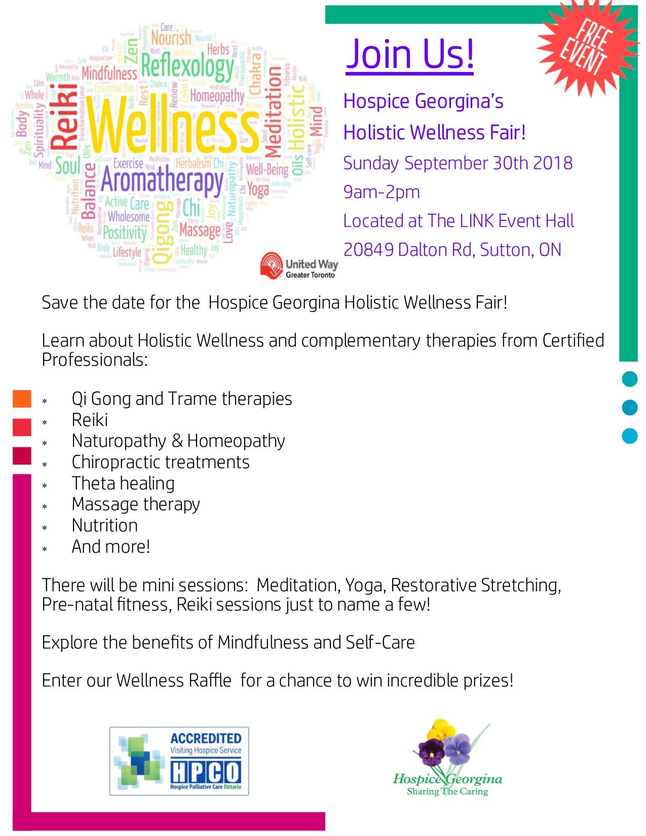 Hospice Georgina's Holistic Wellness Fair — Hospice Georgina