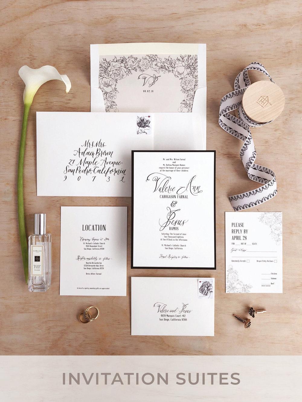 Custom Invitation Suites