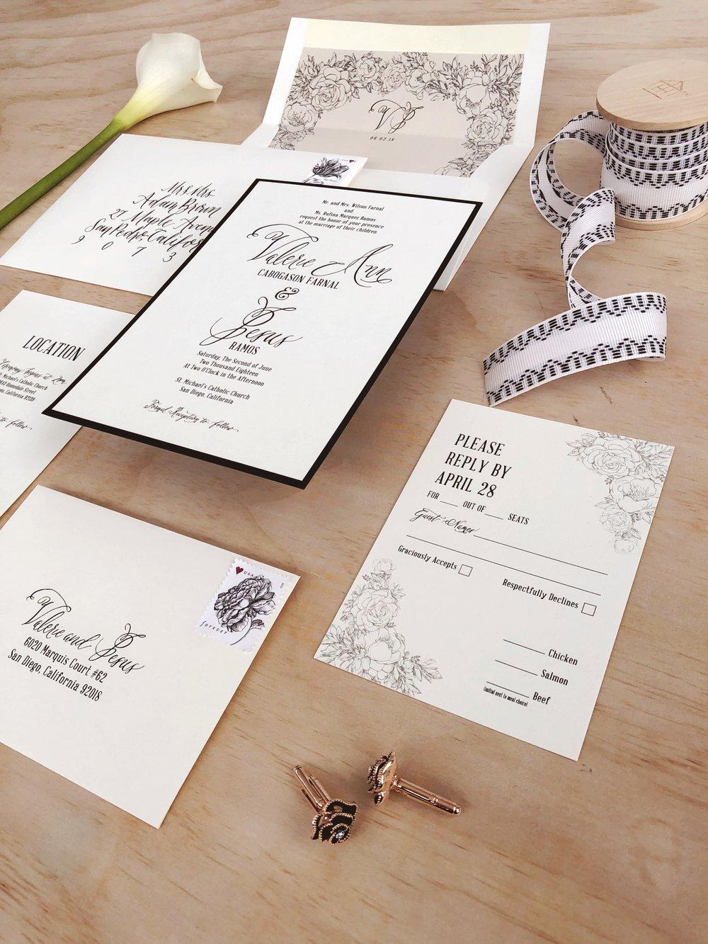 Black and White Classic Calligraphy Wedding Invitation.JPG
