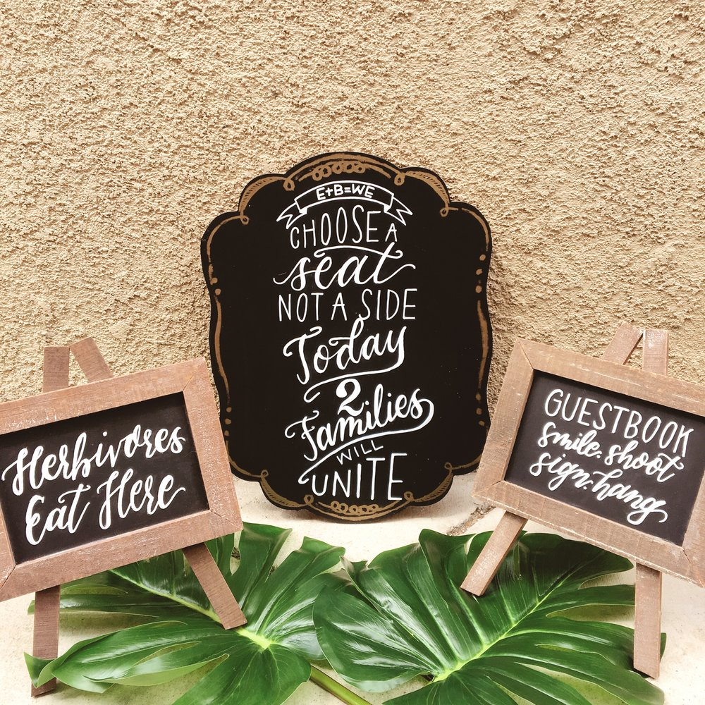 Handlettered Chalkboard Signs.JPG