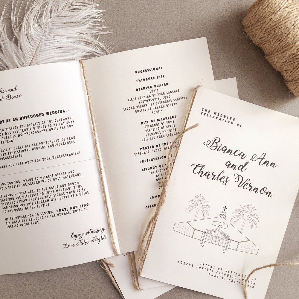 Rustic Catholic Wedding Ceremony Program.jpg