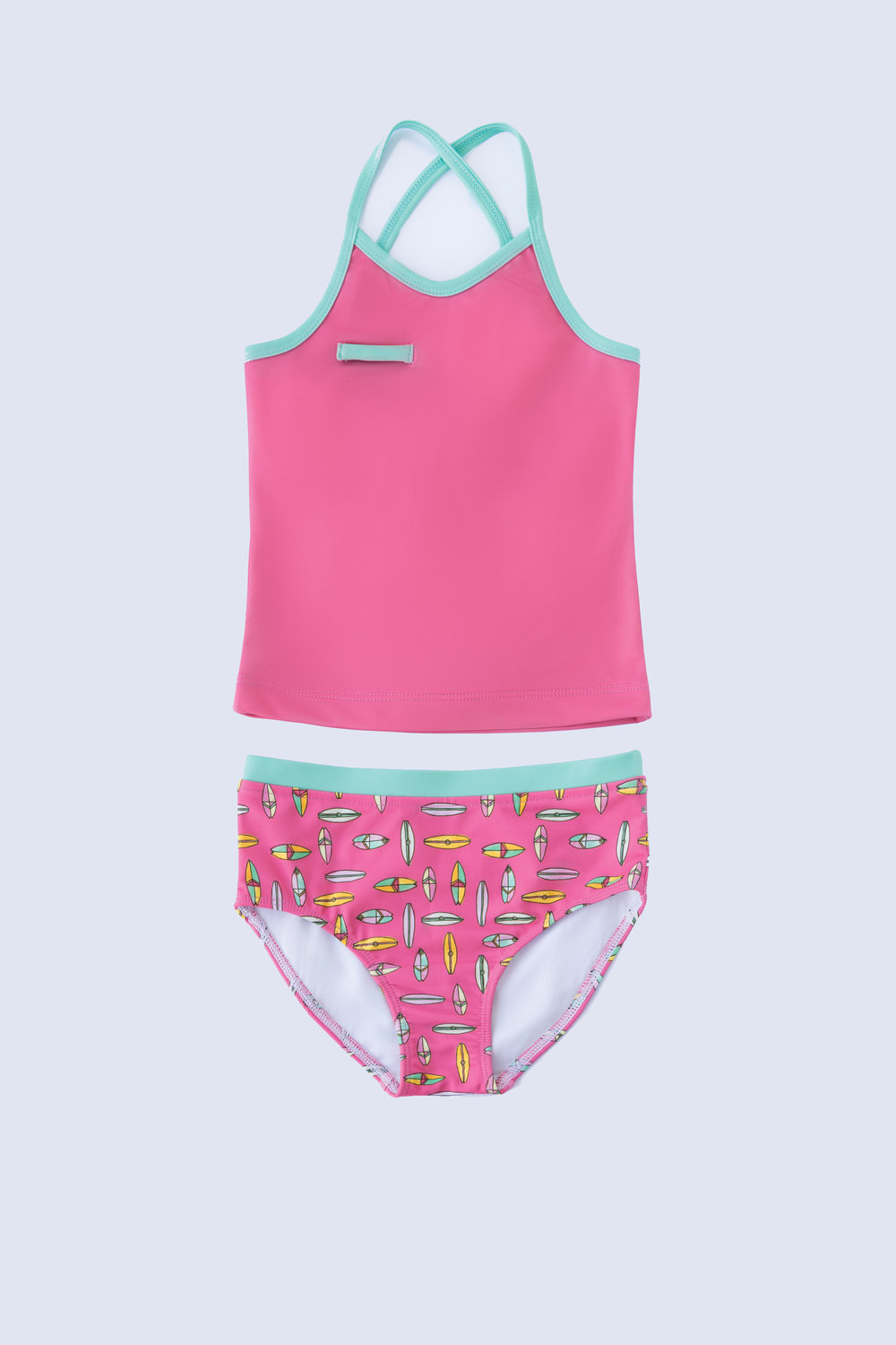 Raspberry Surf Tankini