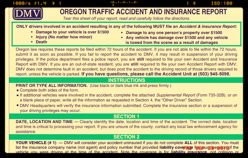 Do You Need To Fill Out A Form To Notify Dmv If You Have A Car Crash