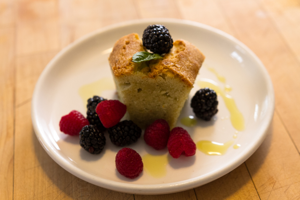 Olive Oil Cake with Seasonal Fruit