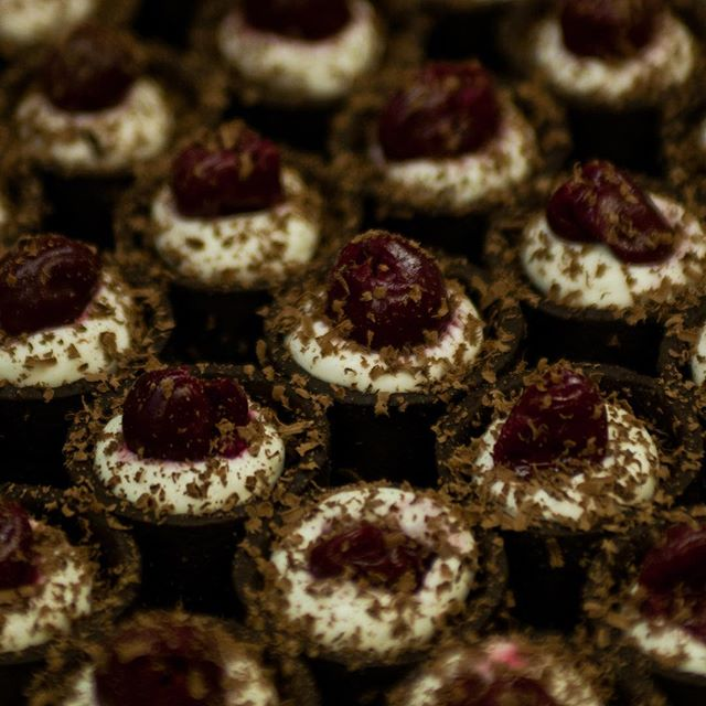 What dreams are made of. Our black forest tartlet is always a party favourite.⠀ Guayaquil chocolate, rainbow acres sour cherry, whipped cream. ⠀ .⠀ .⠀ .⠀ .⠀ .⠀ .⠀ .⠀ .⠀ .⠀ ⠀ #yeg #yegdt #yegfood #yegfoodie #yegcatering #yeglocal #localfood #albertafarming #exploreedmonton