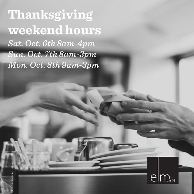 Because you can't live on pumpkin pie alone (well you COULD but...) we're open this weekend for you coffee & sammy needs!