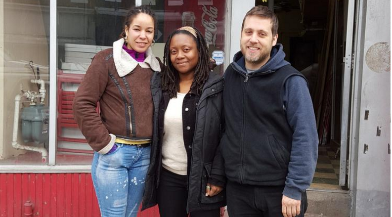 Pictured from The Baltimore Sun. From left to right: Luz Villar, Brenda Sanders, and Kyle Harvey.