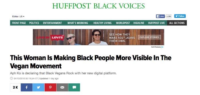 A screenshot from the HuffPost website