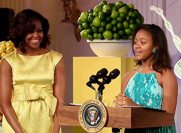 This is Haile Thomas with First Lady Michelle Obama