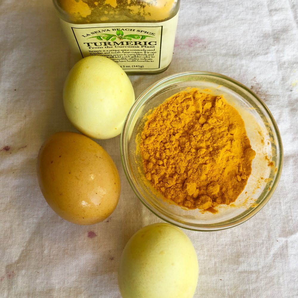 Turmeric.  Use 3 tablespoons of powdered turmeric.