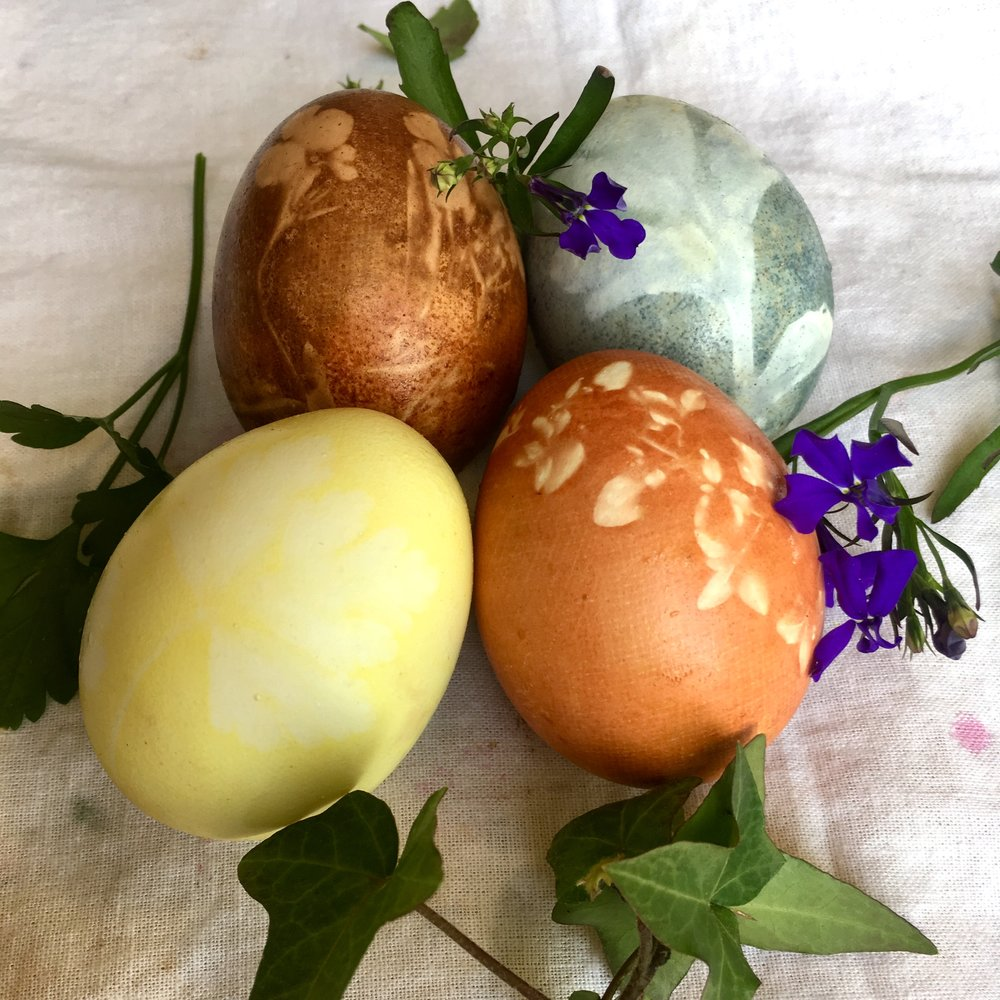 This is a relatively easy step that adds a beautiful finishing touch to your naturally dyed eggs.