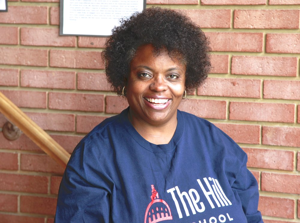 Ms. Pamela Thomas - Assistant Teacher of the Caterpillar Blue Group.  She has years of experience in the early childhood field and has worked with a wide-range of age groups from infants to preschoolers.  Pamela has lived in a variety of locations over the years and has enjoyed various cultural experiences and the diverse people she has met through her travels. Pamela's husband has recently retired from the military, and she is thrilled to be back in the DC area where she spent her early years.