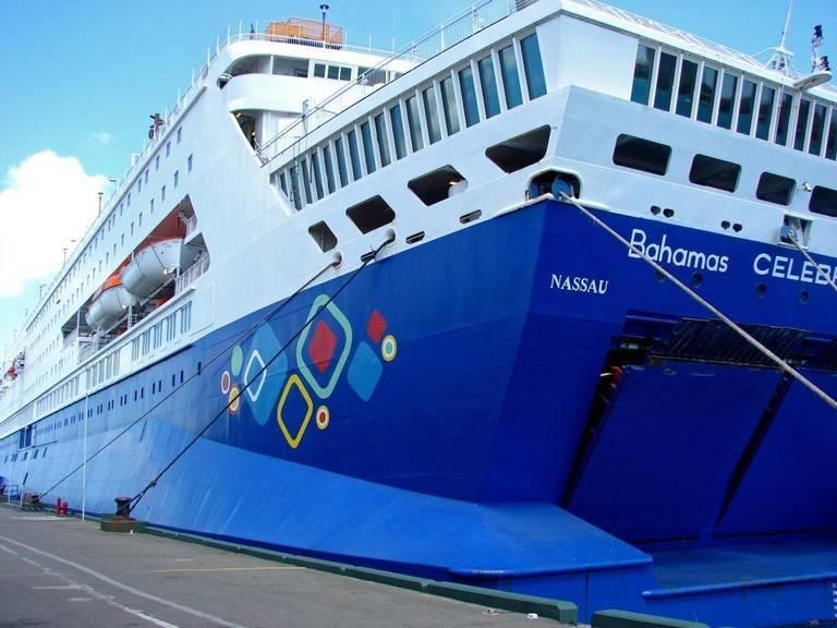 Bahamas Paradise Cruise Line's Grand Celebration ship. Photo by Marjie Lambert.