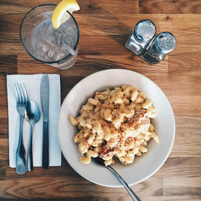 Lobster mac and cheese at Red Skiff. So yum!