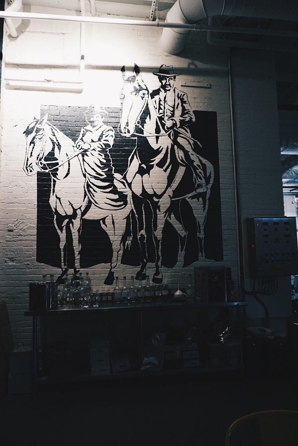 wall art inside bully boy distillers