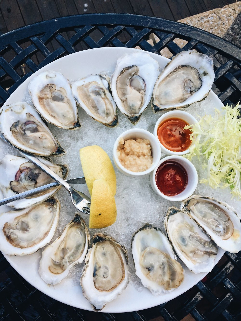 We shared a dozen of oysters because why not?
