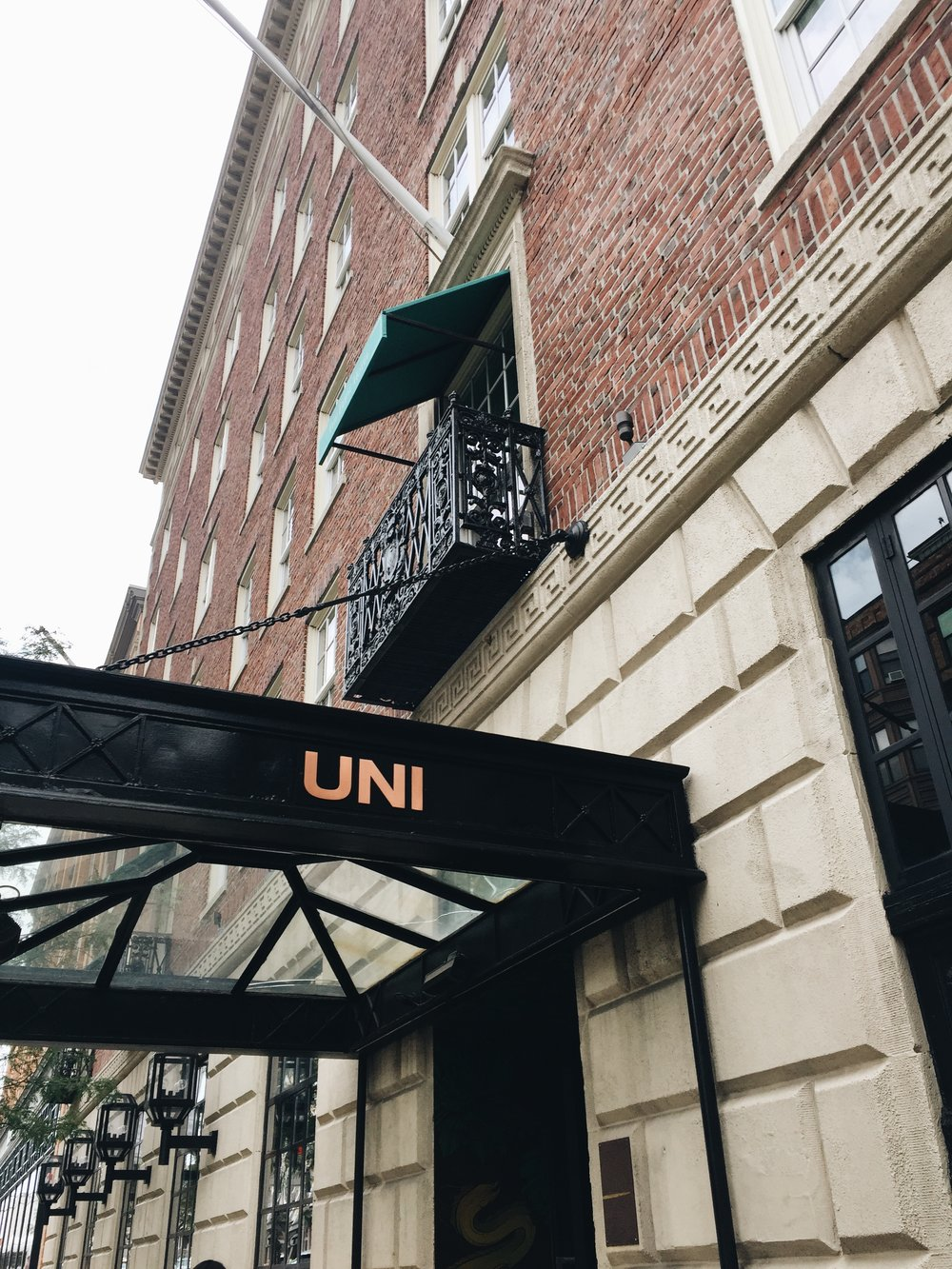 UNI is found inside the Eliot Hotel on 370A Commonwealth Avenue, Boston, MA 02215 in the Back Bay, where Clio was formerly located.