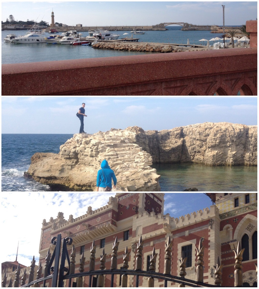 The Gardens Top: view of palace and bridge from afar Middle: the rocky ocean view we found Bottom: the palace through the gate