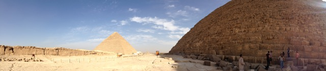 A panorama of the pyramids