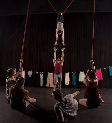 Photo by WittyPixel. Ty Vennewitz, Xochitl Sosa, Terry Crane (on rope), Scotty Dont (standing), Carey Cramer, Erica Rubinstein.
