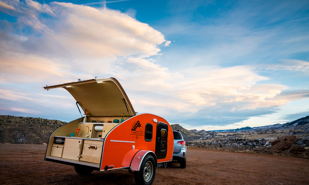 Wide open spaces with access to everything you need in our teardrop trailer.