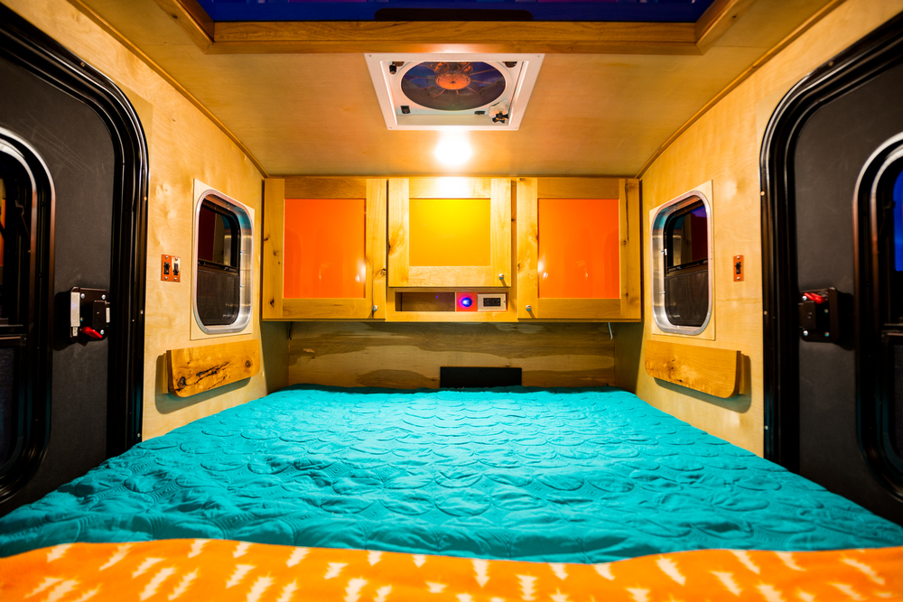 Spacious interior makes our teardrop trailer your home away from home.