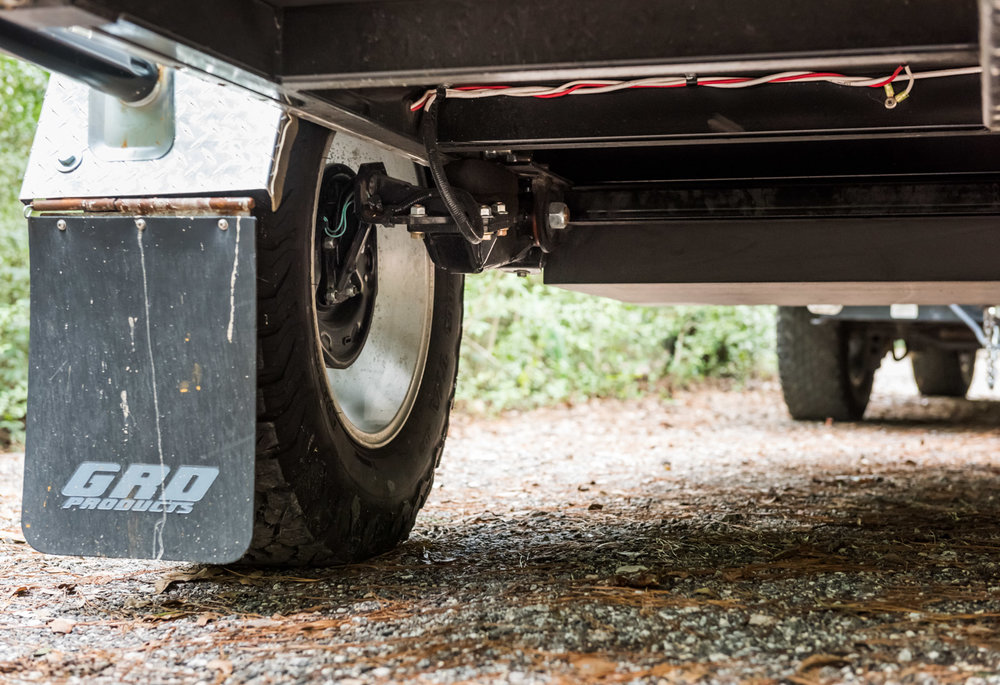 "The offroad package on our teardrop trailer features Timbren's heavy duty independent suspension and a 4"" lift."