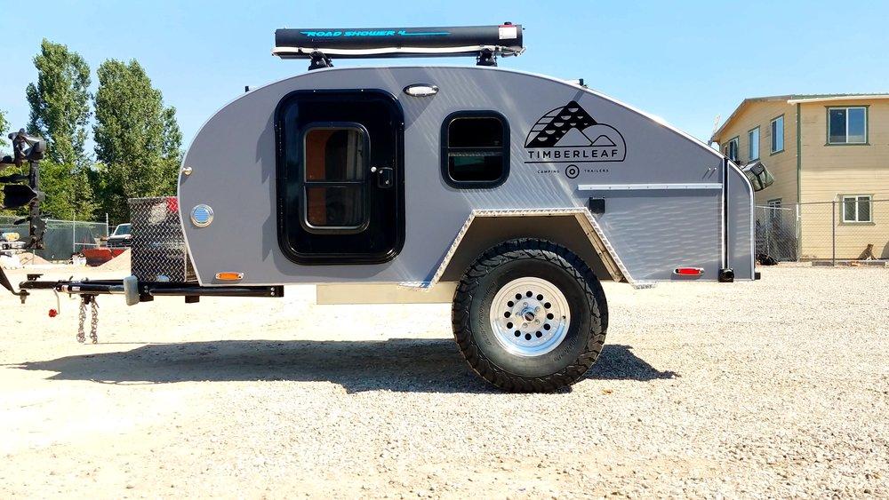 Teardrop Camping Trailer Featuring Roadshower 4 Solar Shower