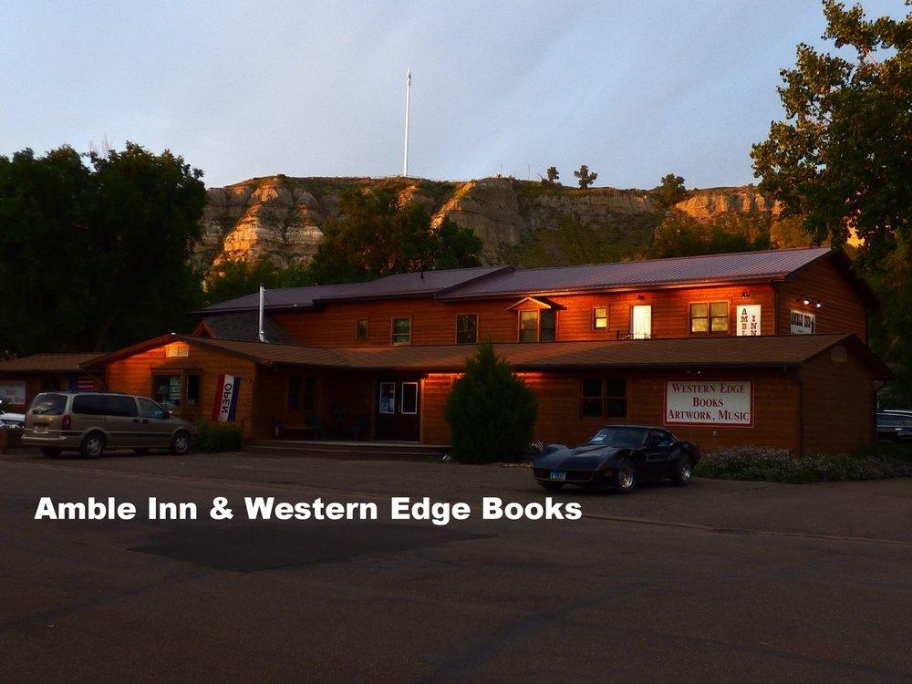 Amble Inn  &  Western Edge Books, Artwork, Music  Store & Motel - Medora, ND -(701) 623-4345