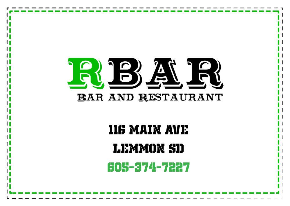 R Bar  - Restaurant and Bar Lemmon, SD 605-374-7227