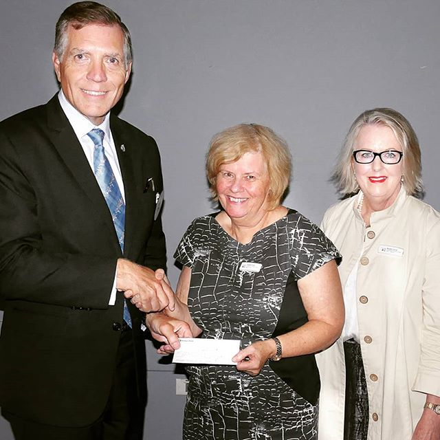 Catherine Sullivan Centre's Board Chair and Director accepting a cheque last week. CSC gives heartfelt thanks to President Rick Vosila and the Rotary Club of Strathfield for donating all the proceeds from the barbecue they held at the Strathfield Park Spring Fair. We are very grateful to the club for their ongoing support.