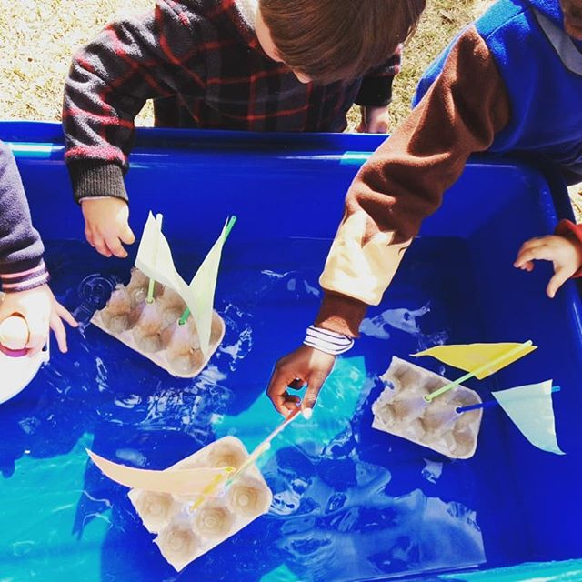 We made sailing boats at WAVES today. We wondered if they could float, and they did! ⛵ #sailingboat #sunshine #waterplay #earlyinterventionfordeafchildren #hearinglosswontstopme