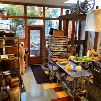 Our petite and sunny kitchen, where all the magic happens!