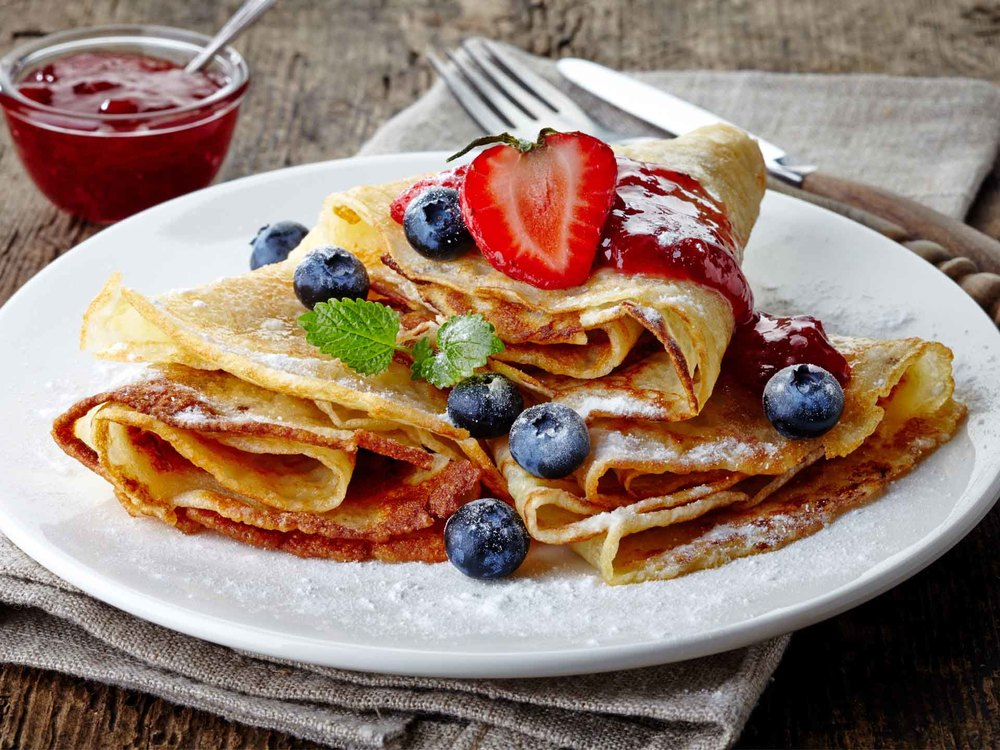 Mother's Day Brunch Special ~ Berry Crepes