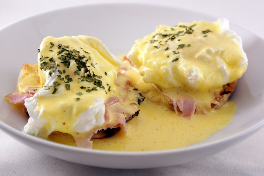 Mother's Day Brunch Special ~ Eggs Benedict over house-made sourdough English muffins.
