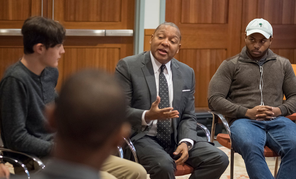 Wynton speaks with students.jpg