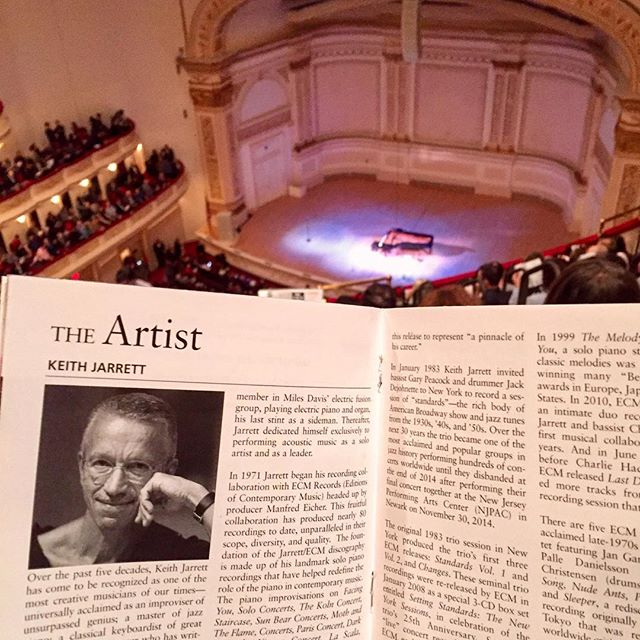 AHH KEITH JARRETT SOLO PIANO AT CARNEGIE HALL WITH @gimbalator SO LEGENDARY 😭😱😭🎹💀